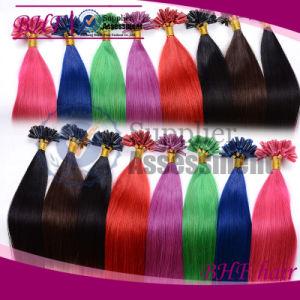Nail Hair Extension 0.5g/Starands U-Tip Human Hair Extension Fusion Prebond Keratin Hair 100strands/Lot #1 Indian Virgin Hair pictures & photos