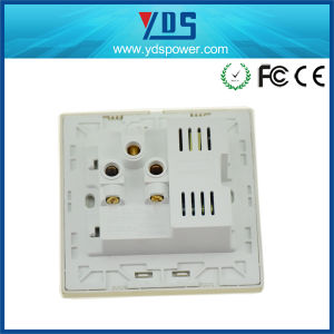 5V 2.1A Dual USB Wall Socket with 16AMP Socket Universal pictures & photos