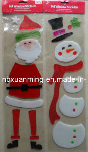 Christmas Glitter Window Gel Stickers Christmasdecoration