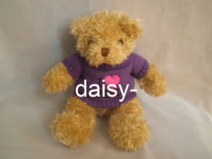 Plush Purle Soft Bear with Swear pictures & photos