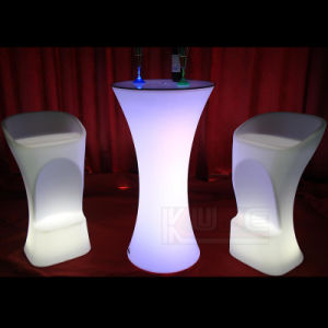 Round Cocktail Table LED Cocktail Table pictures & photos
