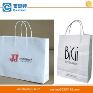 Hight Quality Fashion Promotional Custom White Kraft Paper Bag with Twisted Handles pictures & photos