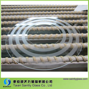 4mm Round Tempered Glass for Ceiling Lamp Shade pictures & photos