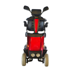 Solax Comfortable 4 Wheels Mobility Scooter with Aujustable Tiller pictures & photos