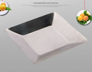 Stainless Steel Square Food Tray for Kitchenware (CS-019)