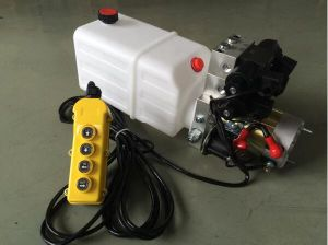 Double Acting Hydraulic Cylinder Hyd Power Unit with 2 Station Cetop 03 Solenoid Valves pictures & photos
