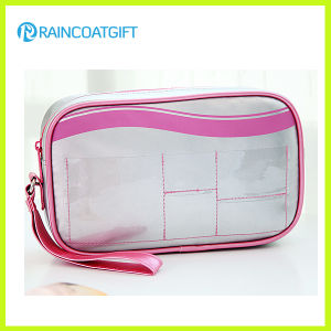 Ladies Silver PVC/PU Portable Makeup Pouch Rbc-045 pictures & photos