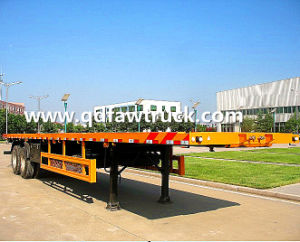 Hot sale! Tri-Axle Container Flatbed semi trailer pictures & photos