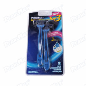 Triple Blade Razor with Lubricating Strip pictures & photos