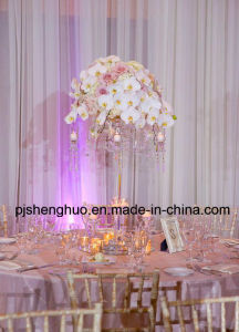 Graceful Crystal Candelabra Wedding Table Decorations