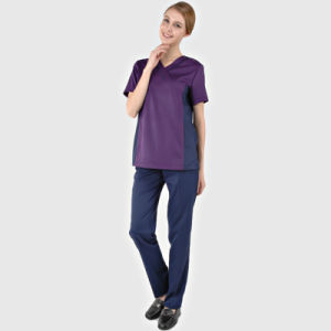 95% Polyester /5% Spandex Fashion Scrub Suit Design/Medical Nursing Scrubs /Women Scrubs Sets Nusing pictures & photos