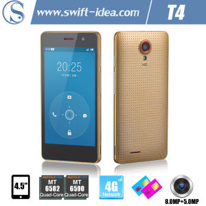 4.5 Inch Mtk6582 4G Smartphone Top 10 Mobiles with 8.0MP Camera (T4)