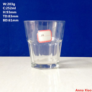 250ml Glass Cup for Wine, Vodka, Whiskey pictures & photos