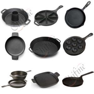 Customized Sand Cast Iron Pan pictures & photos