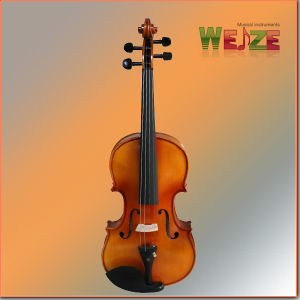 Handmade Flamed Violin (half handmade painting)   pictures & photos