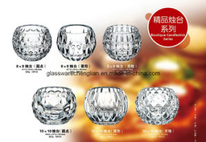 Hand Made Round Glass Candle Holder (ZT-35) pictures & photos