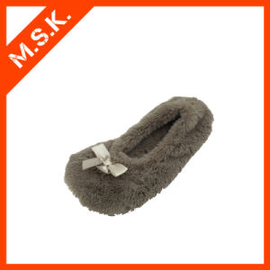 Popular Brown Bullet Shoe with Bowknot