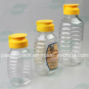 350g Plastic Honey Jar with Non-Drip Silicone Valve Cap (PPC-PHB-06) pictures & photos