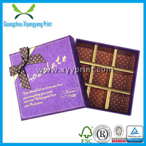 Gold Logo High Quality Paper Gift Box for Chocolate Candy pictures & photos