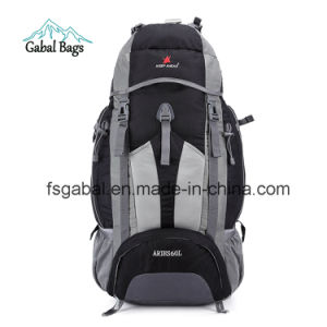 Outdoor Nylon Material External Frame Type Camping Hiking Backpack Bag pictures & photos