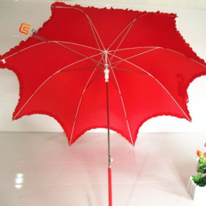 Red Lace Wedding Umbrella (YS-1011A) pictures & photos