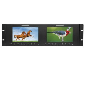 "7"" Dual Rack Mount LCD Monitor for TV News/Broadcasting Video Surveillance pictures & photos"