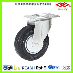 200mm Swivel Plate Black Rubber European Type Caster Wheel (P102-11D250X60) pictures & photos