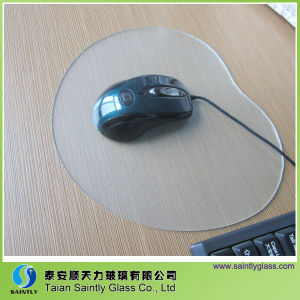 3.2mm Tempered Sandblasting Effect Printing Glass Mouse Pad pictures & photos
