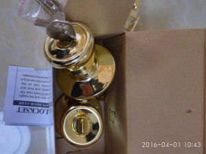 Brass Knob Lock, Door Lock, Indoor Lock Al-Sg6076SA pictures & photos