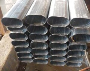 Welded Oval Steel Tube/ Deformed Pipe Q195-Q345 16mn pictures & photos
