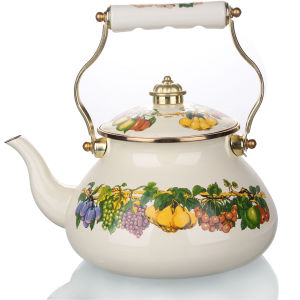 High Grade Fashion Russia Enamel Kettle pictures & photos
