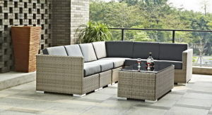 6PCS All Weather PE Rattan Sectional Sofa with Waterproof Anti-UV Cushions for Patio and Garden