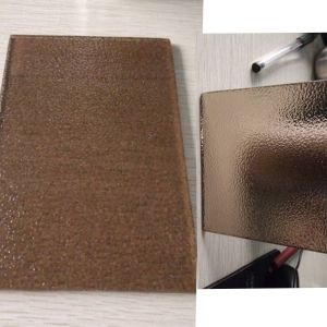 3-6mm Bronze Nashiji Patterned Glass for The Window Glass pictures & photos