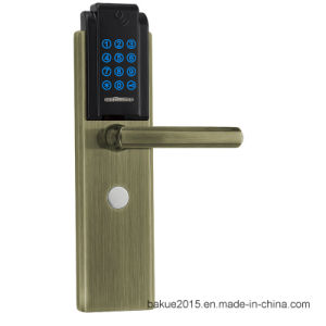 High Security Digital Door Lock Touchpad Keyless in Plated Antique Copper pictures & photos