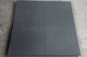 1mx1mx20mm Rubber Gym Flooring Tile with Corss Line on Top pictures & photos