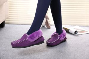 Classic Australian Sheepskin Casual Moccasin Shoes for Men and Women pictures & photos