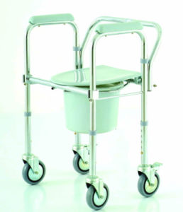 Cm02 Folding Rollator Commode Chair pictures & photos