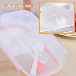 2 Compartment Sealed Lunch Box Meal Prep Container Leakproof Reusable Microwave Food Container with 1 Spoon pictures & photos