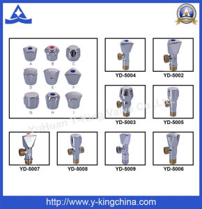 Polished Brass Ball Angle Valve with Zinc Handle (YD-5033) pictures & photos
