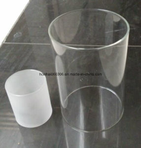 Transparent Pyrex Glass Cylinder Tube Light Shade pictures & photos