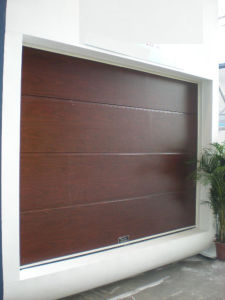 Wood Colour Sectional Garage Door pictures & photos