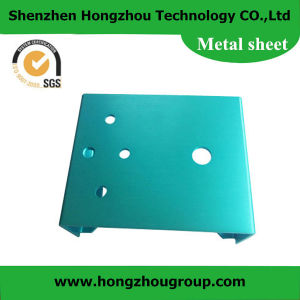 OEM High Quality Blue Powder Coated Sheet Metal Fabrication Cover Parts pictures & photos