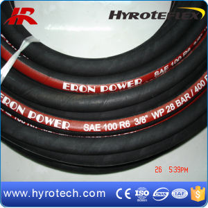 SAE 100r6 Hydraulic Rubber Hoses DIN Standard/High Pressure Hose/Marine Hose pictures & photos