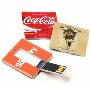 Full Color Printing Flash Memory Drive Square Credit Card USB Flash Disk pictures & photos