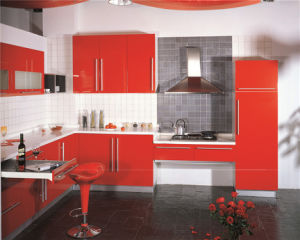 L Shape PVC Kitchen Cabinet for Project Use