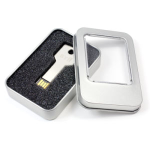 USB Flash Disk Tin Box with PVC Window pictures & photos
