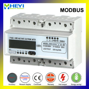 60A Three Phase DIN Rail Energy Meter Modbus RS485 Electrical Instrument pictures & photos