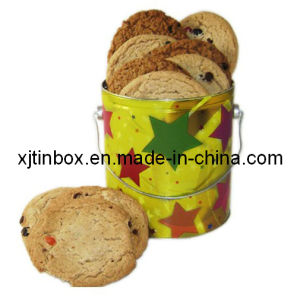 Special Design Biscuit Tin Box with The Item Biscuit Box, Round Biscuit Tin Box, Biscuit Packaging Box (XJ-002Y)