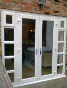Superior Quality UPVC Casement Door with Sidelights (BHP-CD09) pictures & photos