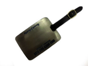 Customized Metal Golf Luggage Tag pictures & photos
